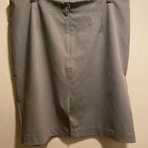 Nice gray pencil skirt.